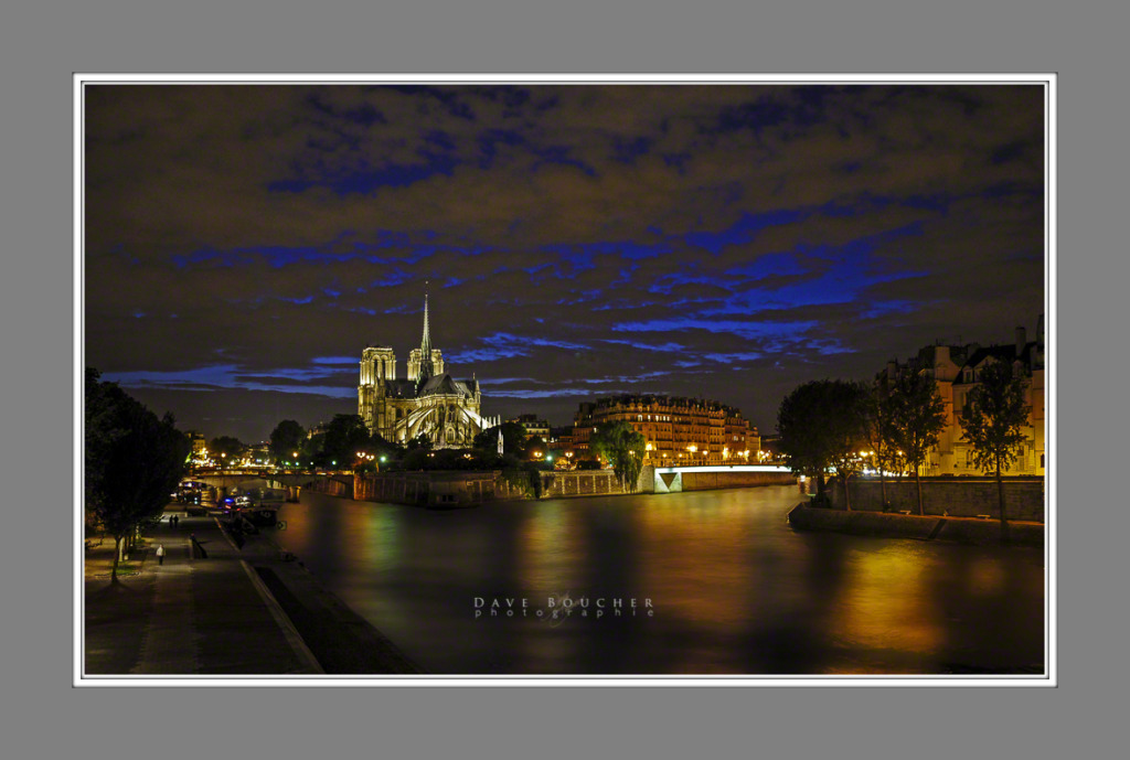 Notre Dame at Night - Misty Water(Flattened)